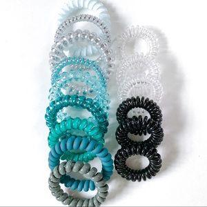 NEW 15 Spiral No Crease Hair Ties Variety Set